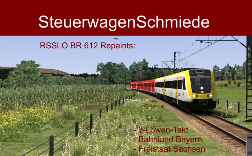 3-in-1 Repaint-Paket für die BR 612 von RSSLO